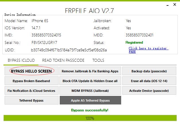 frpfile aio 绕ID后的截屏
